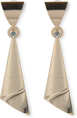 Aimez Gold Tie Hanging Metal Drop Earring
