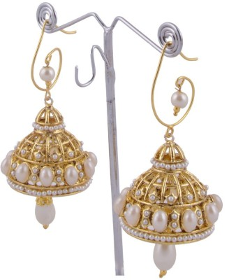 Khandelwal Jewels Fashion Jewellery Pearl Alloy Jhumki Earring