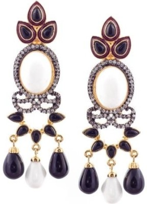 E-Designs Cubic Zirconia Brass Drop Earring