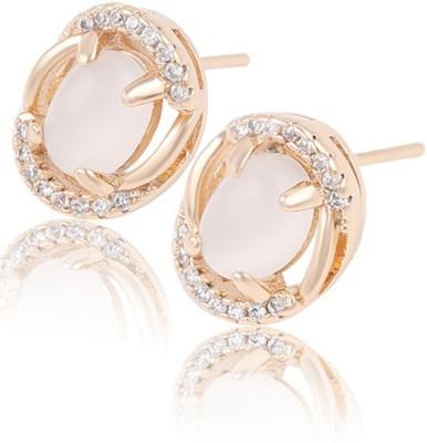 Aahna- Designer Jewellery Divine Cubic Zirconia Copper Stud Earring