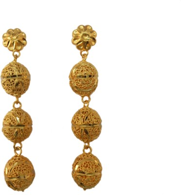 My Design Gold Plated Hangings Copper Dangle Earring
