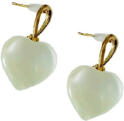Bling-Bling Heart Casual Beige Alloy Drop Earring