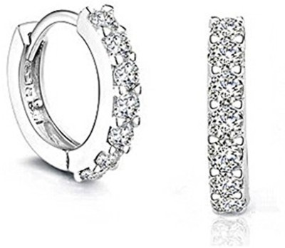 Caratcube Bali Style Hoop Earrings Crystal Alloy Hoop Earring