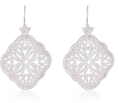 Aarohee Silver sparkle Sterling Silver Dangle Earring