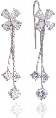 Siyora studded Cubic Zirconia Brass Dangle Earring