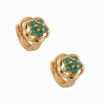 SuperShine jewelry Spring Sparkle Brass Huggie Earring