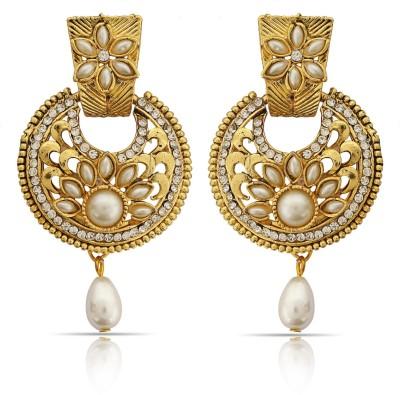 Luxor Ethnic Spark Alloy Chandbali Earring