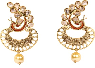 Divitha Allure Dancing peacock to be ethnic pair of danglers for the season. Alloy Drop Earring
