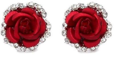 ACW Silver Plated Crystal Rose Earrings Zinc Stud Earring