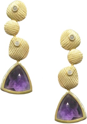 Jalparee Structural Purple J07-0004 Alloy Dangle Earring
