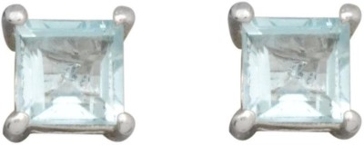 YugshaJewels Elegant YJE-1700 Topaz Sterling Silver Stud Earring