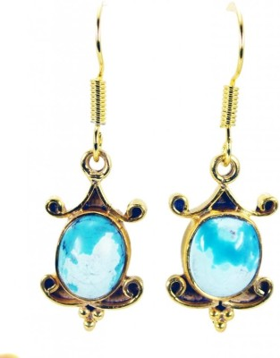 Riyo Enticing Turquoise Turquoise Copper Dangle Earring