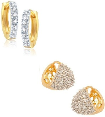 La Amber Sparkling - Combo of 2 Cubic Zirconia Alloy Earring Set
