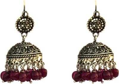 Aashirwad Round Silver Jhumki Earring