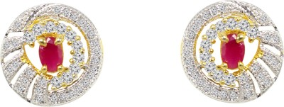 Jewelskaro Antique Designer American Diamond fashion jewelry Ear tops designs Brass Stud Earring