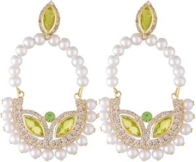 Neckies Plastic Pearl Earrings Yellow Gold Drop Earring