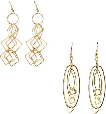 Wise Pebbles Style Diva Brass Dangle Earring