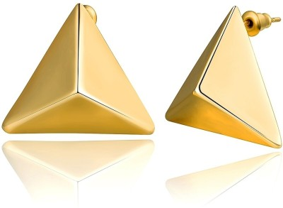 iSweven Three-Dimensional Triangle Gold Plated Three Color Latest Fashion Luxury Fashion Jewelry Ed2674 Zircon Alloy Stud Earring