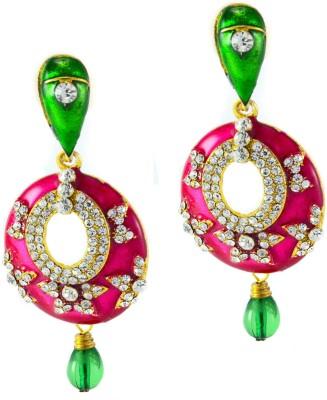 imillery imillery pink meena earrings Alloy Drop Earring