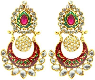 Peora Meenakari Alloy Chandbali Earring