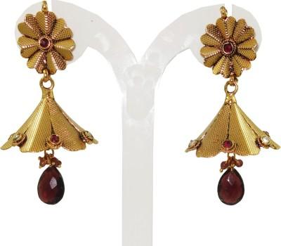 Anjan Perfect Designer Cubic Zirconia Brass Jhumki Earring