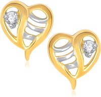 VK Jewels Amour Heart Cubic Zirconia Alloy Stud Earring