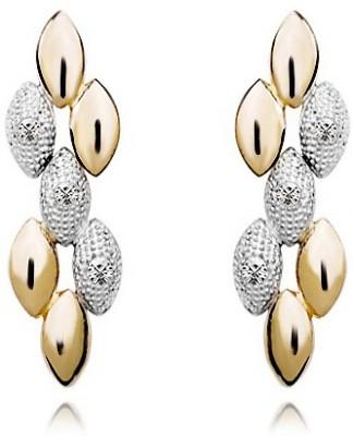 Silver Shoppee Golden Bling Cubic Zirconia Metal Chandelier Earring