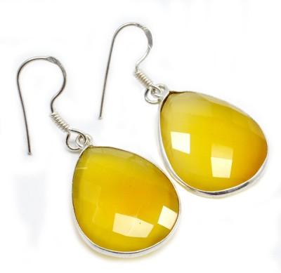 Silvesto India 1448 Quartz Sterling Silver Dangle Earring
