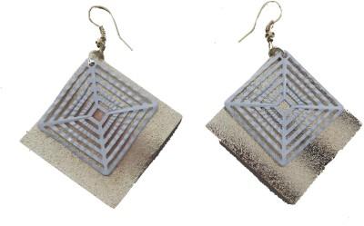 MH Plate Crystal Plastic Dangle Earring