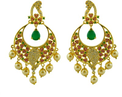 Maalyaa AD STUD& DROPS Brass, Copper Drop Earring