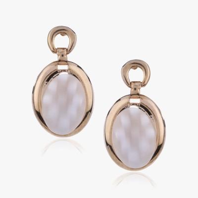 Shamoda Classic Oval Mother Of Pearl Metal Drop Earring