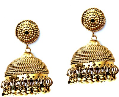 FASHION ERA Golden charming Metal Jhumki Earring