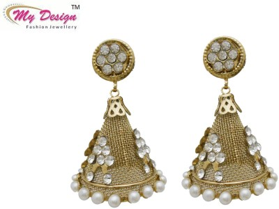 My Design Gold Plated Alloy Jhumki Earring