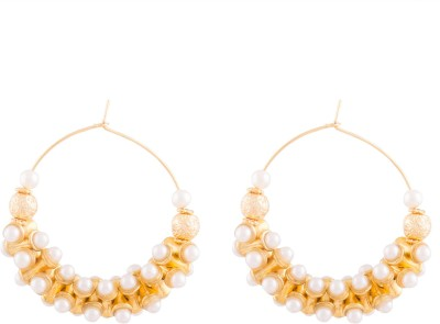 Kshitij Jewels Fun Circle Alloy Hoop Earring