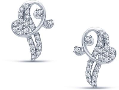 Navvya Cubic Zirconia Sterling Silver Stud Earring