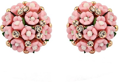 Colors of Sin Flower bouquet pink Alloy Stud Earring