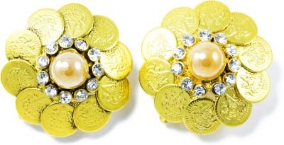 Jewelskaro Designer Antique Coin shape ear tops design Brass Stud Earring