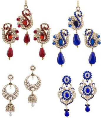 Buyclues RCCJ3412 Crystal Brass Earring Set
