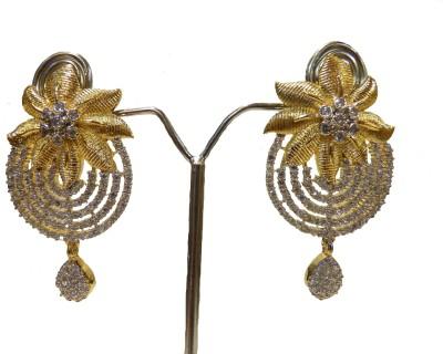 Aakhya EAR6 Diamond Rose Gold Drop Earring