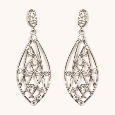 Urthn Pretty Ovel Shape in White-1301631 Alloy Drop Earring