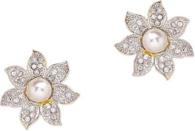 Prita Floral American Diamond Alloy Stud Earring