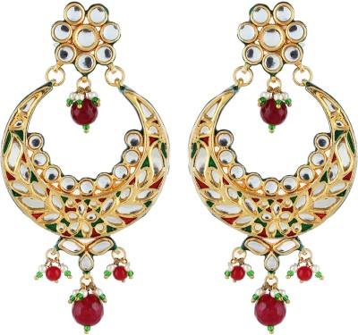 Aadi Creations Color Spark Copper, Brass Chandbali Earring