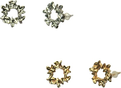 FashionFundamentals Crown Alloy Earring Set