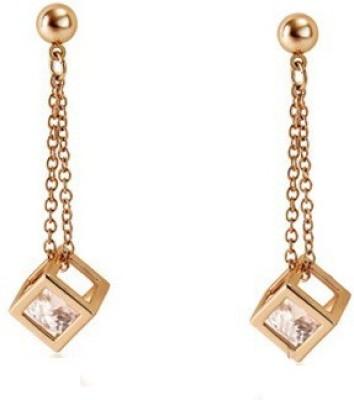 Silver Shoppee Designer Crystal Alloy Drop Earring
