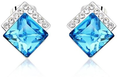 Ouxi Swarovski Elements Classic Round Crystal Zinc Stud Earring