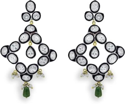 SuvidhaArts Royal Style Cubic Zirconia Metal Drop Earring