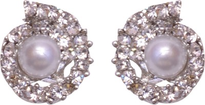 Pink Rose Passion Zircon Metal Stud Earring