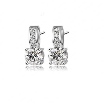 Wearyourfashion Sparkling Nail AAA Swiss Zircon Alloy Stud Earring