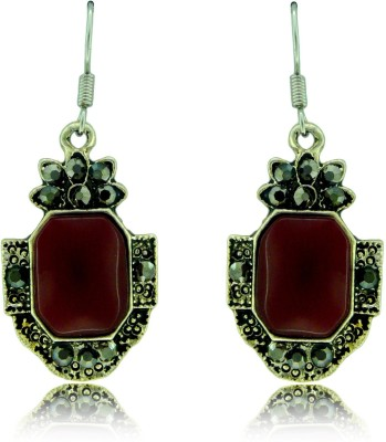 Camy Red Antique Casual Alloy Dangle Earring
