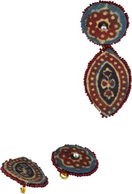Ba No Batwo Pratibimb Fabric Drop Earring